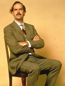 John Cleese sitting